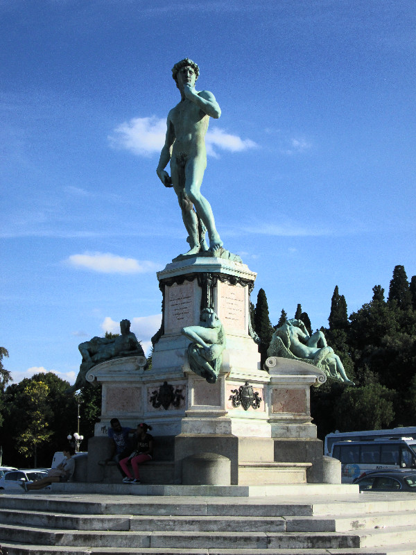 David situated in Piazzale Michelangelo. Photo by Diana Dinverno