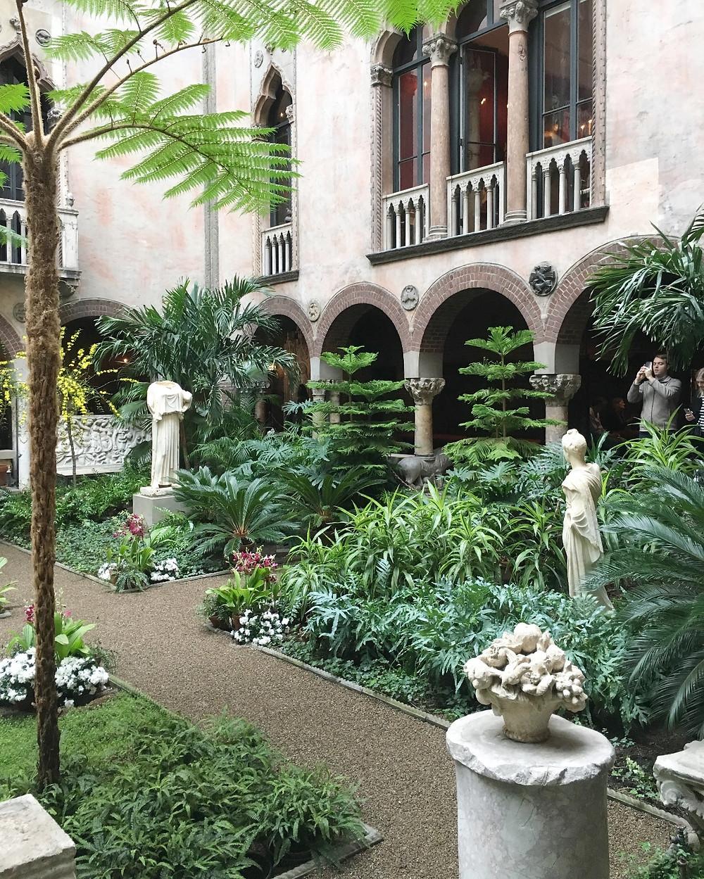 Isabella Stewart Gardner Museum courtyard. Photo by Diana Dinverno