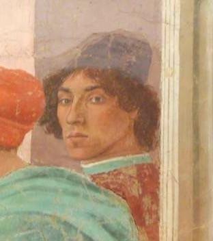 Filippino Lippi self-portrait.