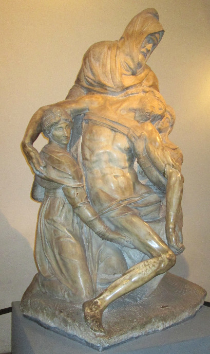 Michelangelo's unfinished Pieta in Florence. Photo by Diana Dinverno
