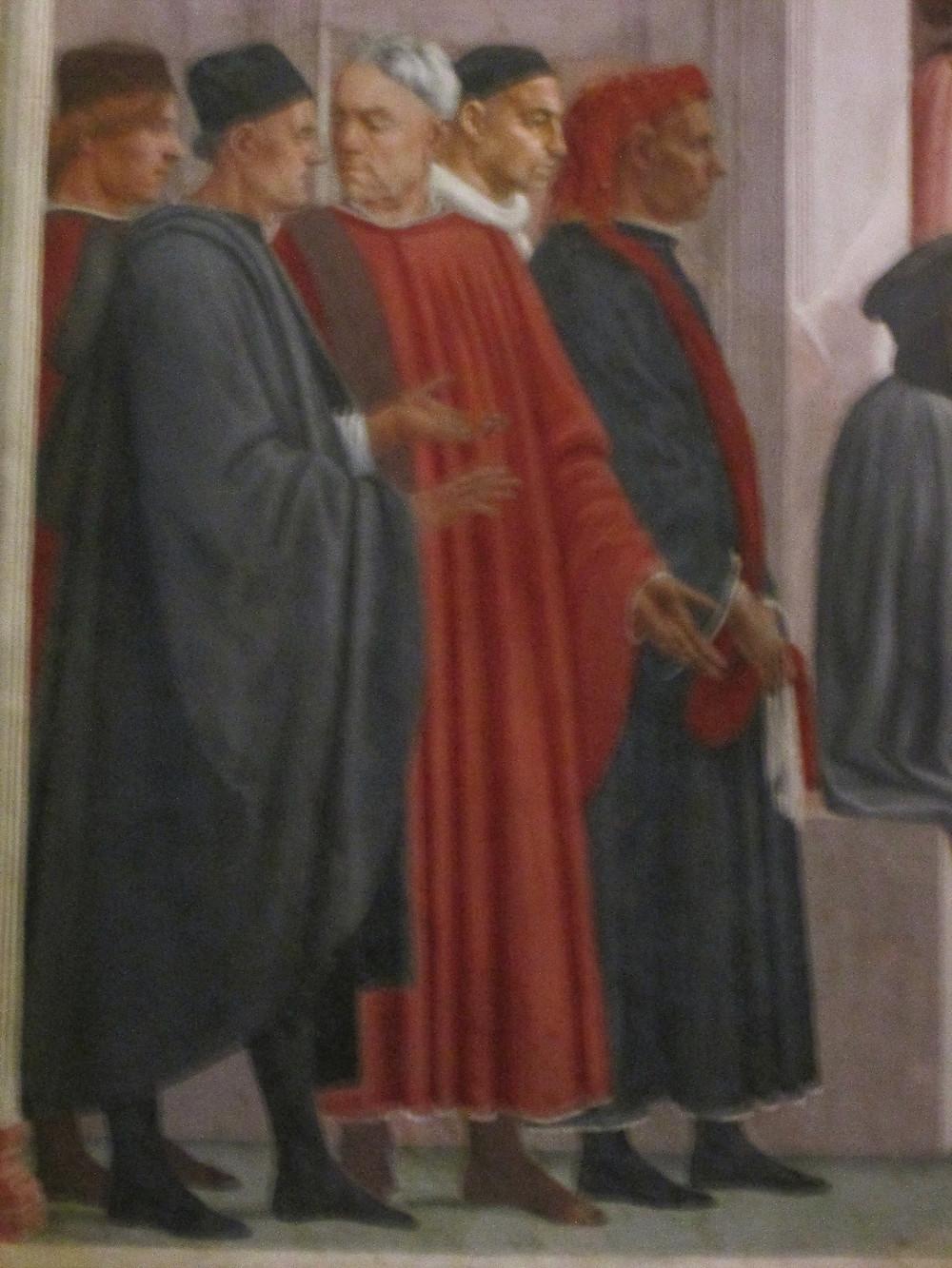 Lippi's addition to Masaccio's work. Photo by Diana Dinverno