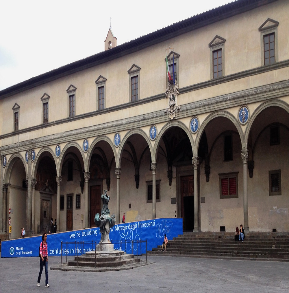 Hospital of the Innocents (Spedale deli Innocenti) facade and portico. Photo by Diana Dinverno