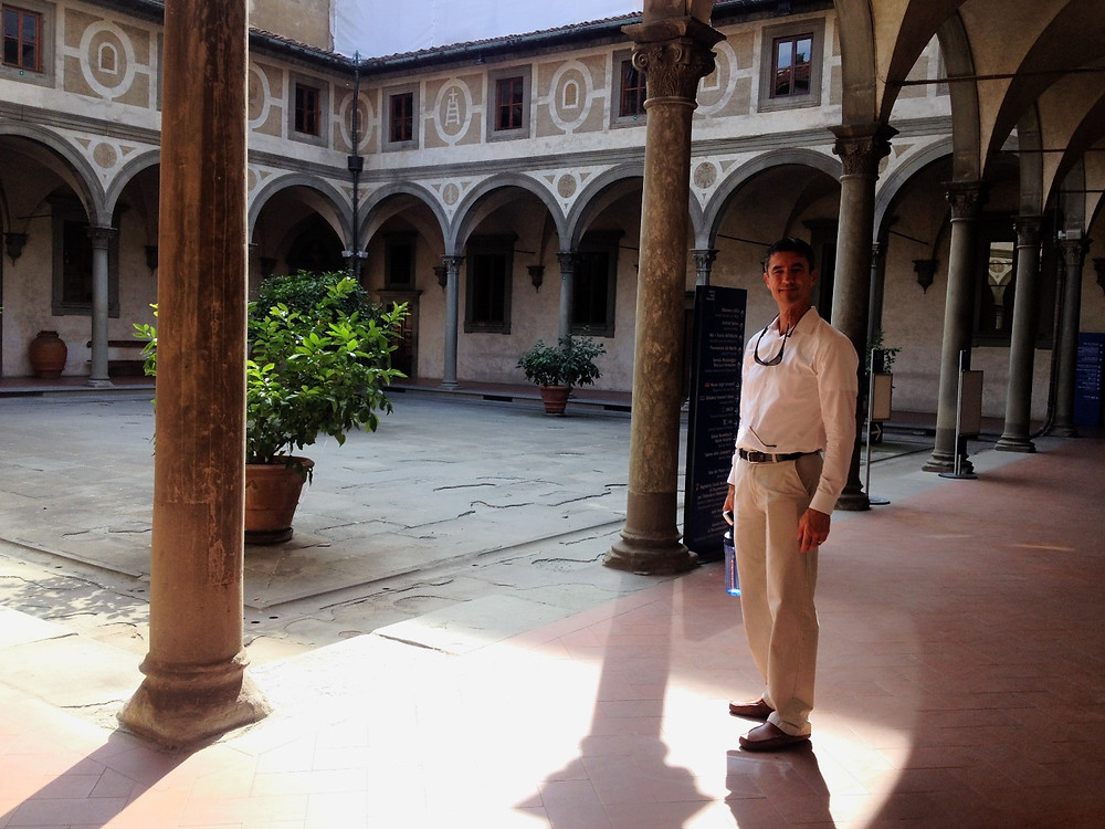Hospital of the Innocents courtyard. Photo by Diana Dinverno