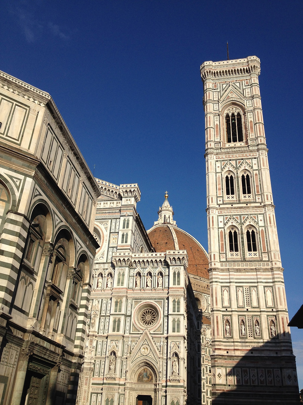 Baptistery, Cathedral and Bell Tower in Florence, Italy. Photo by Diana Dinverno
