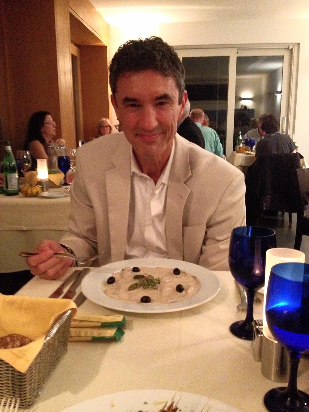 Dining at La Vista at the Albergo Milano. Photo by Diana Dinverno