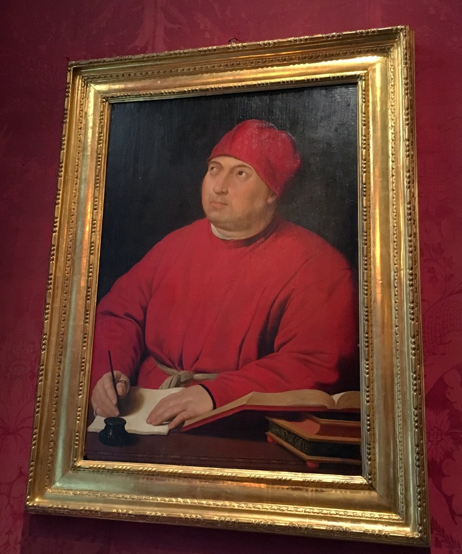 Portrait of Count Tommaso Inghirami by Raphael. Photo by Diana Dinverno.