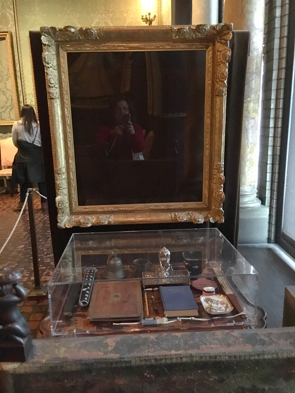 Empty frame for The Concert by Jan Vermeer (1632-1675). Photo by Diana Dinverno.
