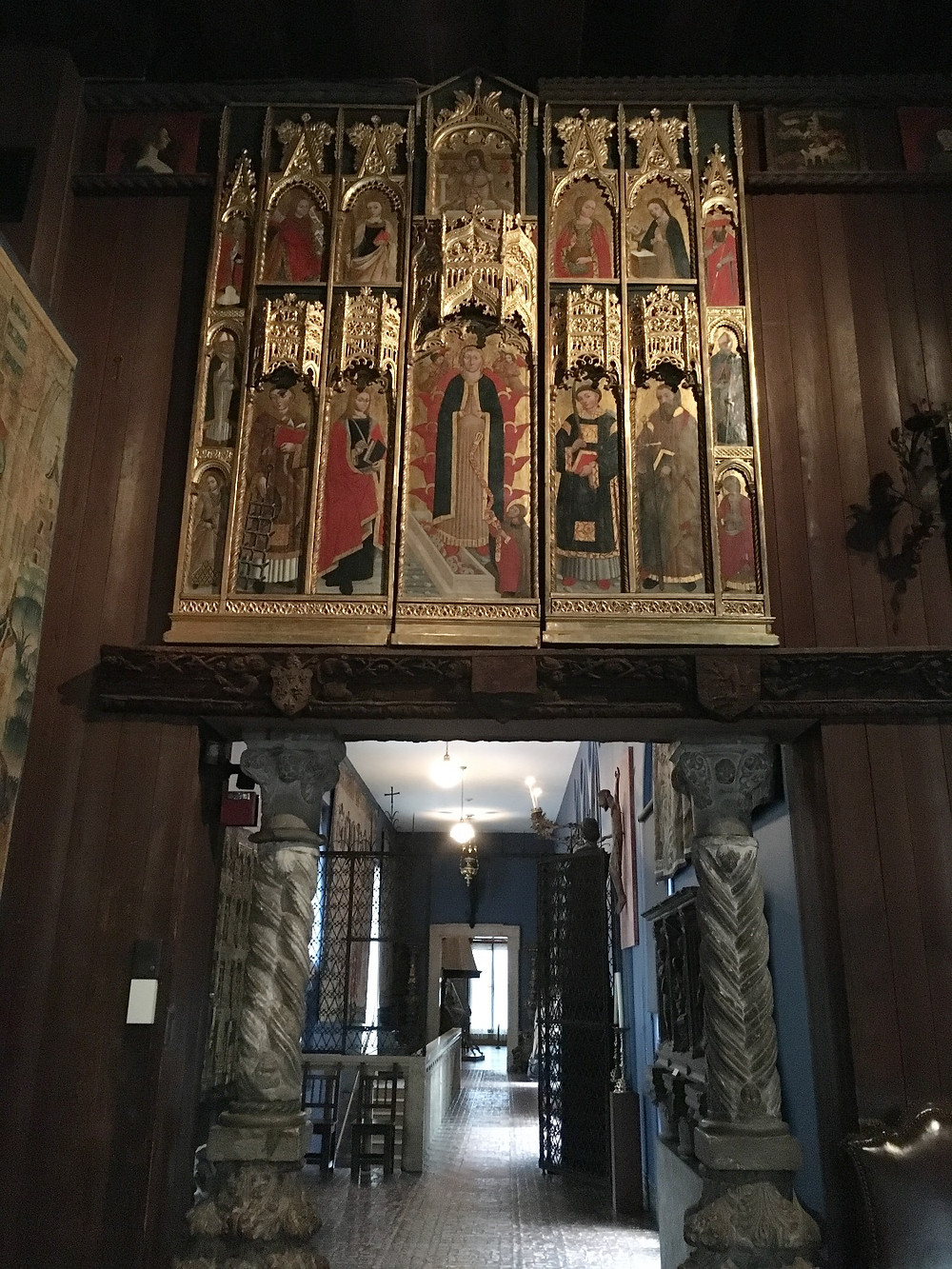 View from inside the Gothic Room into the adjourning passageway. Photo by Diana Dinverno.