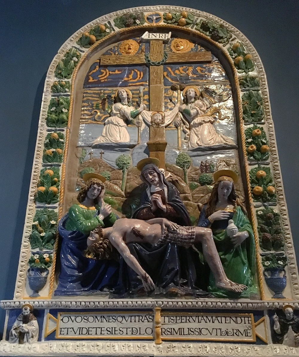 Relief by Giovanni della Robbia. Photo by Diana Dinverno.