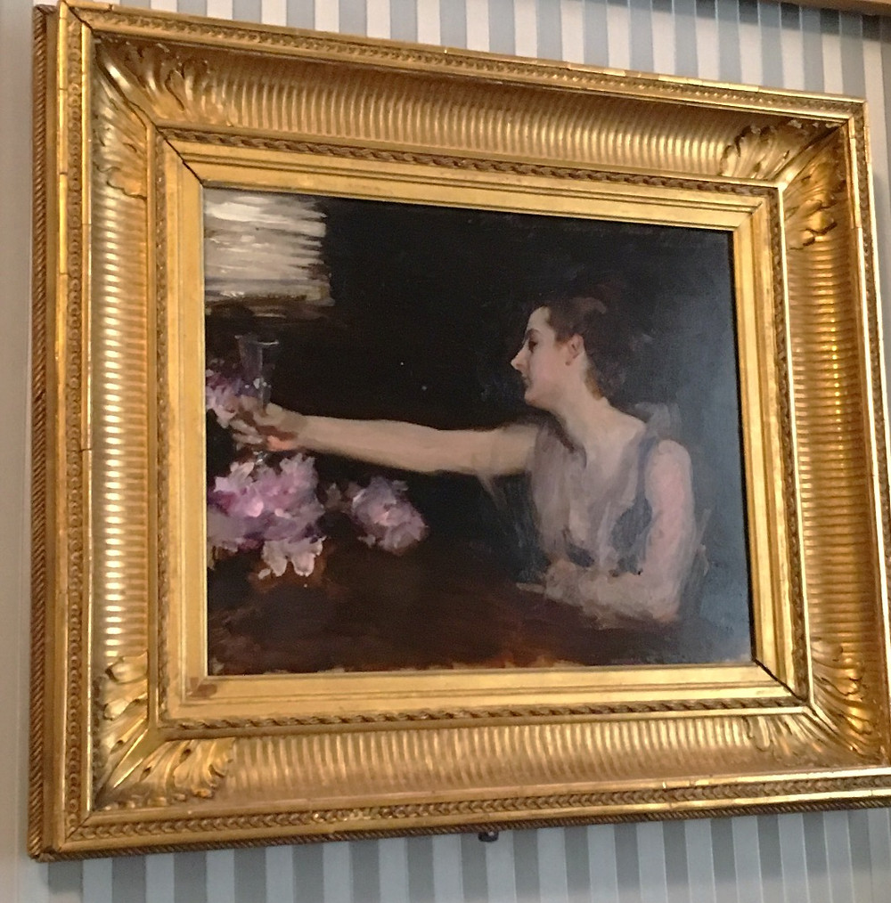 Mme Gautreau Drinking a Toast by John Singer Sargent. Photo by Diana Dinverno.
