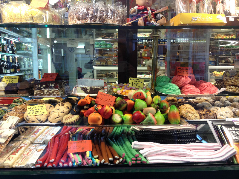 Shop window near Campo Santo Stefano. Photo by Diana Dinverno