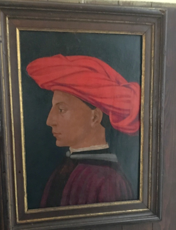 Portrait by Masaccio. Photo by Diana Dinverno.