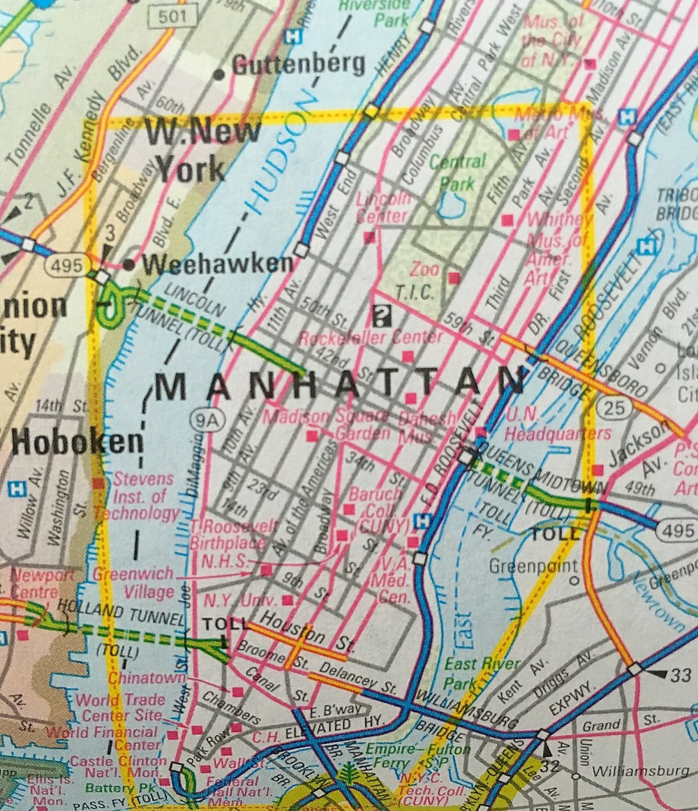 Partial map of NYC