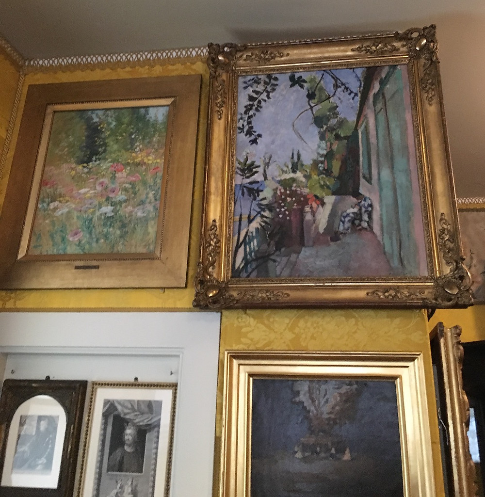 Paintings in the Yellow Room of the Gardner Museum. Photo by Diana Dinverno.