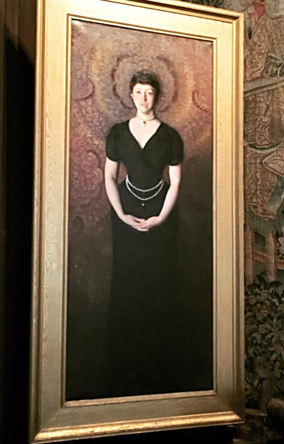Isabella Stewart Gardner portrait by John Singer Sargent. Photo by Diana Dinverno.