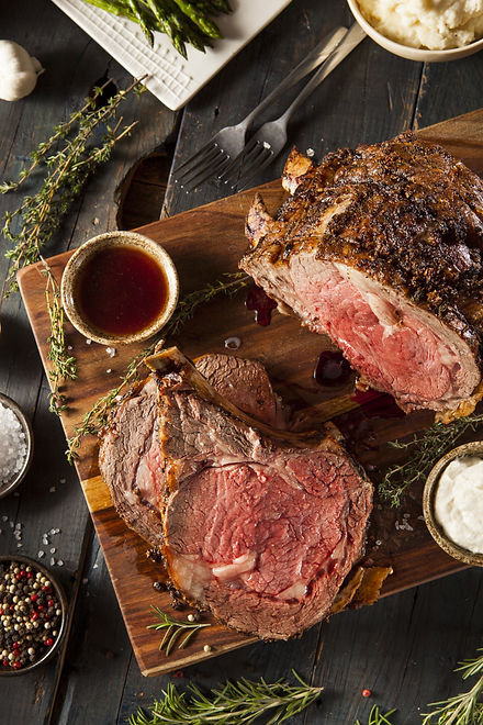 Homemade Grass Fed Prime Rib Roast with