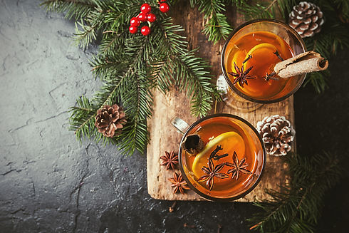 Christmas or Thanksgiving drink. Autumn