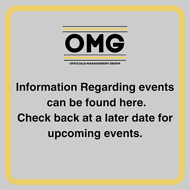 Information Regarding Events will be shown here, Check back at a later date for upcoming e