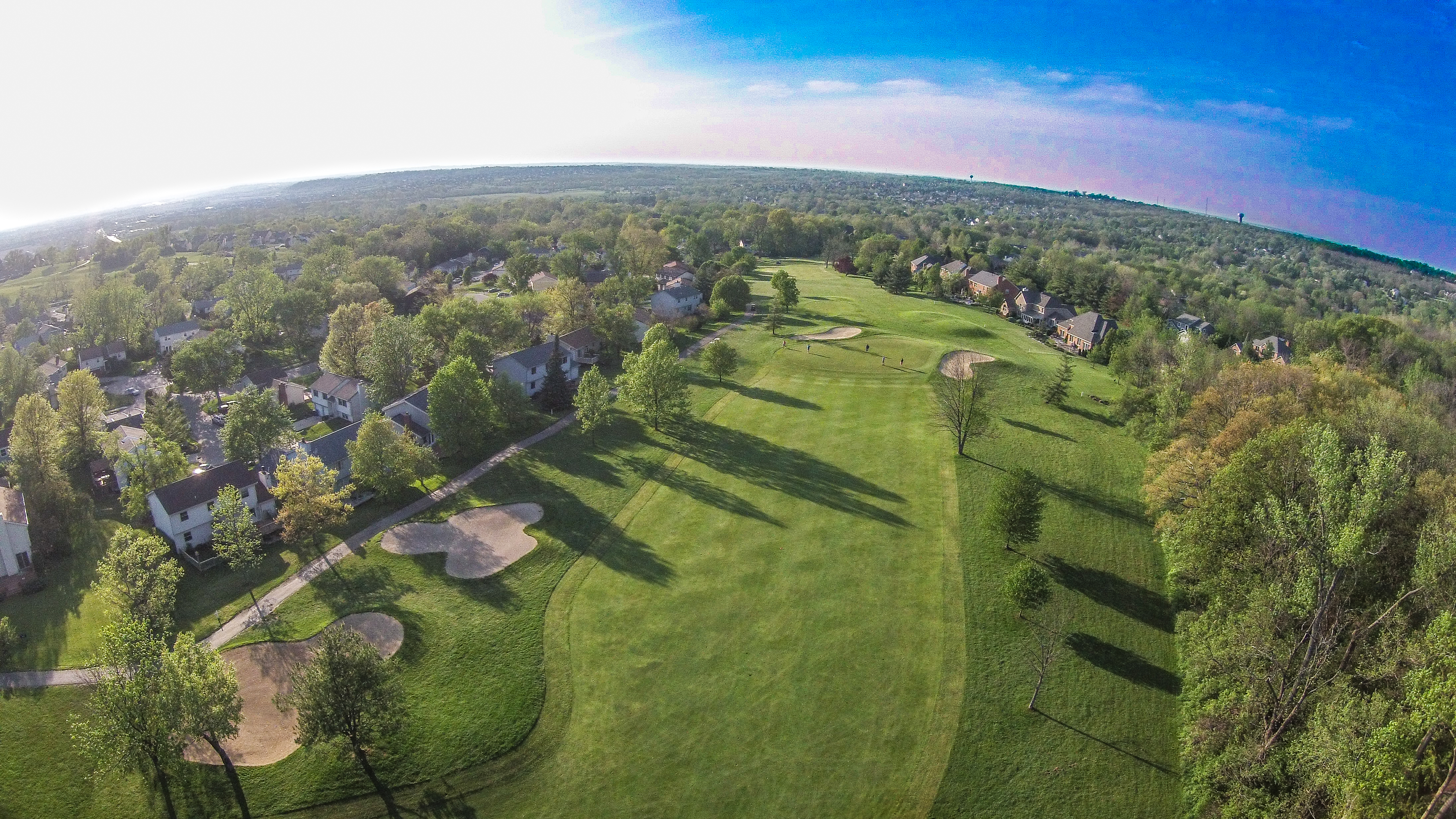Beckett Ridge Golf Aerial