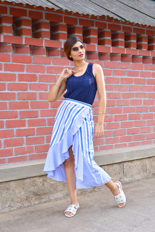 The trending - ruffle wrap skirt
