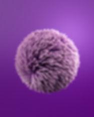 Bola de hojaldre púrpura