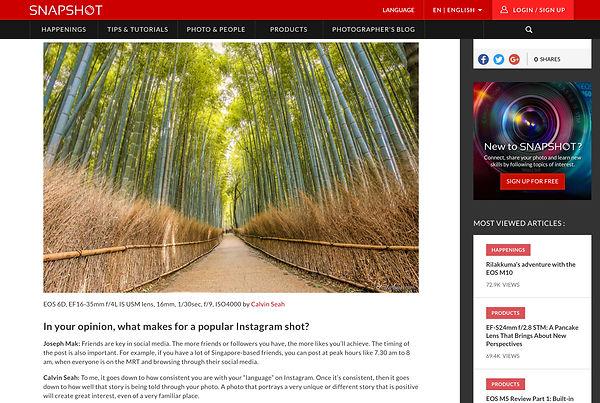 Singapore photographer on Canon Asia Snapshot
