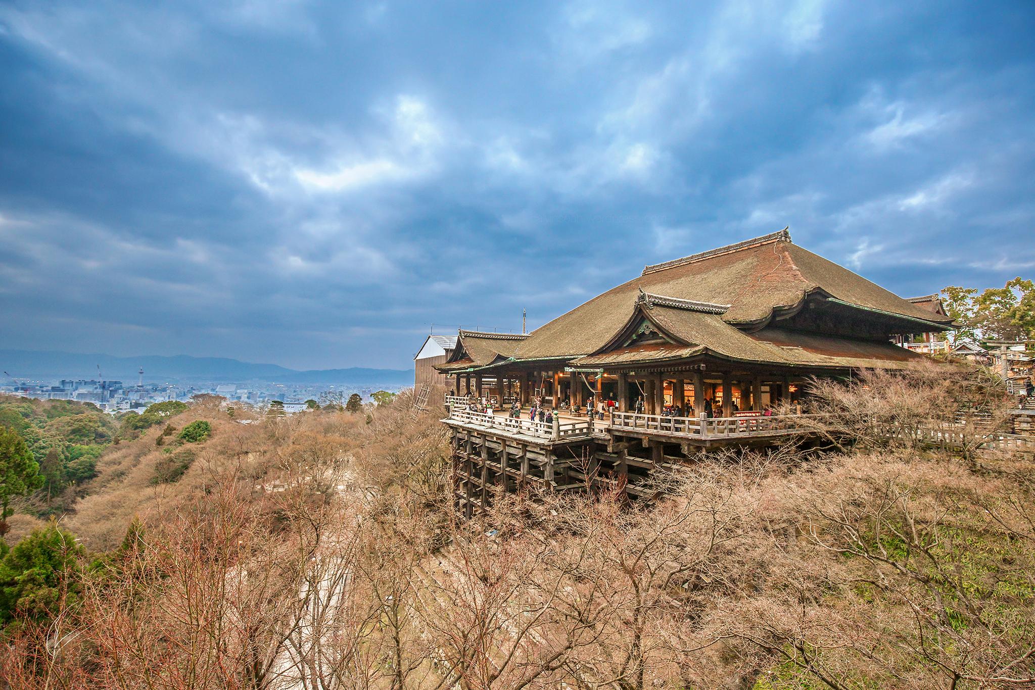 On the top, Kiyomizu-dera