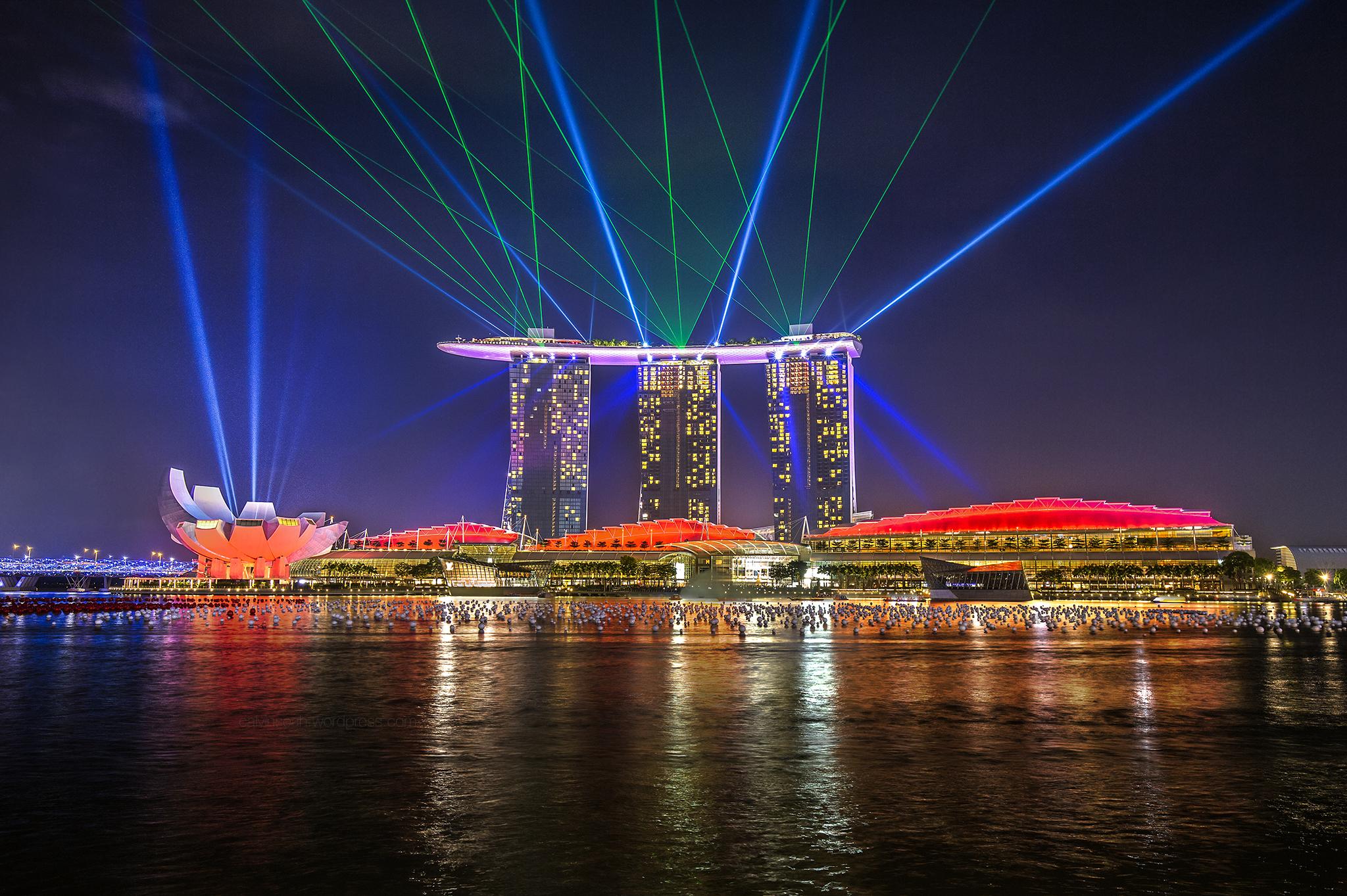 Spectacular dancing lights