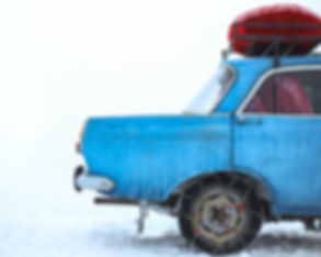 Car in Winter Weather