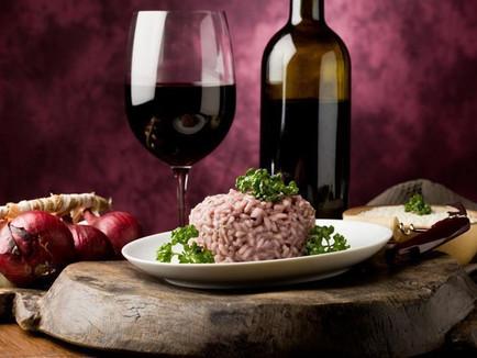 Risoto de Salame com Vinho