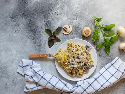 Espaguete com Cogumelos