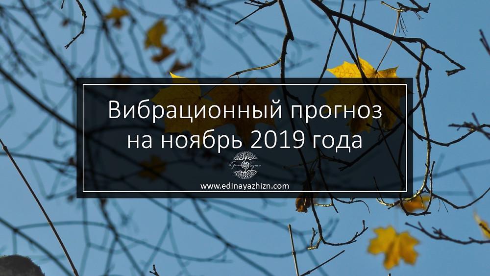 прогноз ноябрь 2019