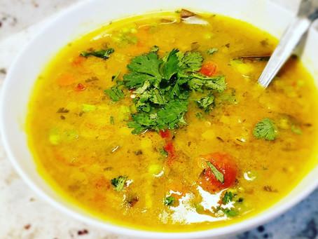 Easy Summer Garden Curry Soup