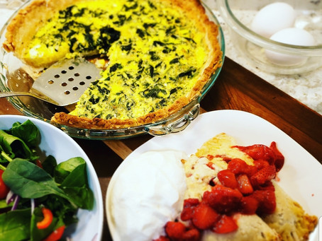 One Dough, Two Dishes - Quiche & Strawberry Hand Pie