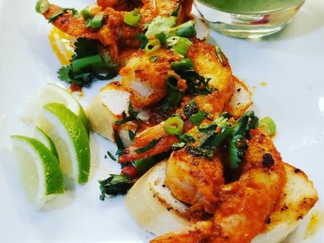 Seared Shrimp & Garlic in Red Sauce - Appetizer