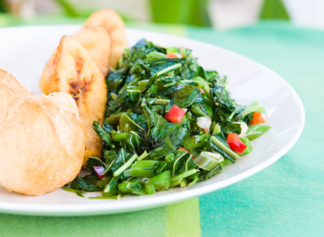 Jamaican-Style Kale Sauteed with Coconut Milk