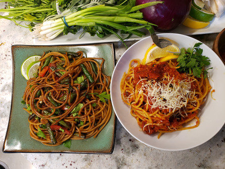 A Tale of Two Sauces - One Pasta