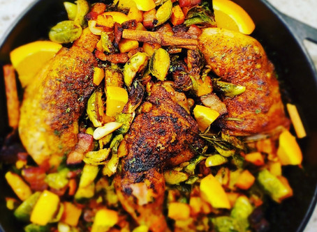 Fall Spiced Chicken with Roasted Vegetables