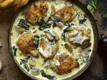 Creamy Herb Prosecco Chicken