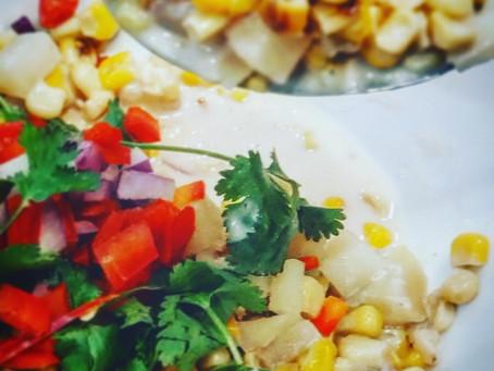 Coconut Corn-Potato Chowder (Serves 3-4)