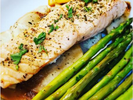 7-Minute Steamed Salmon Dinner