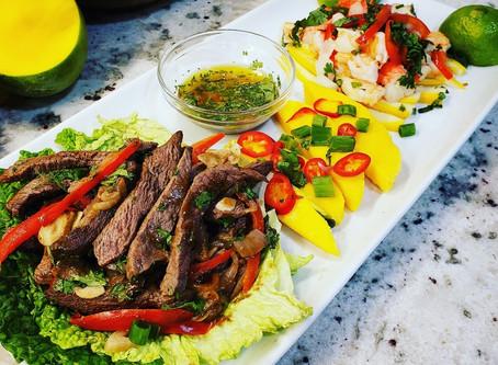 Mango Thai Surf + Turf - Thai Beef and Crab-Shrimp Salad