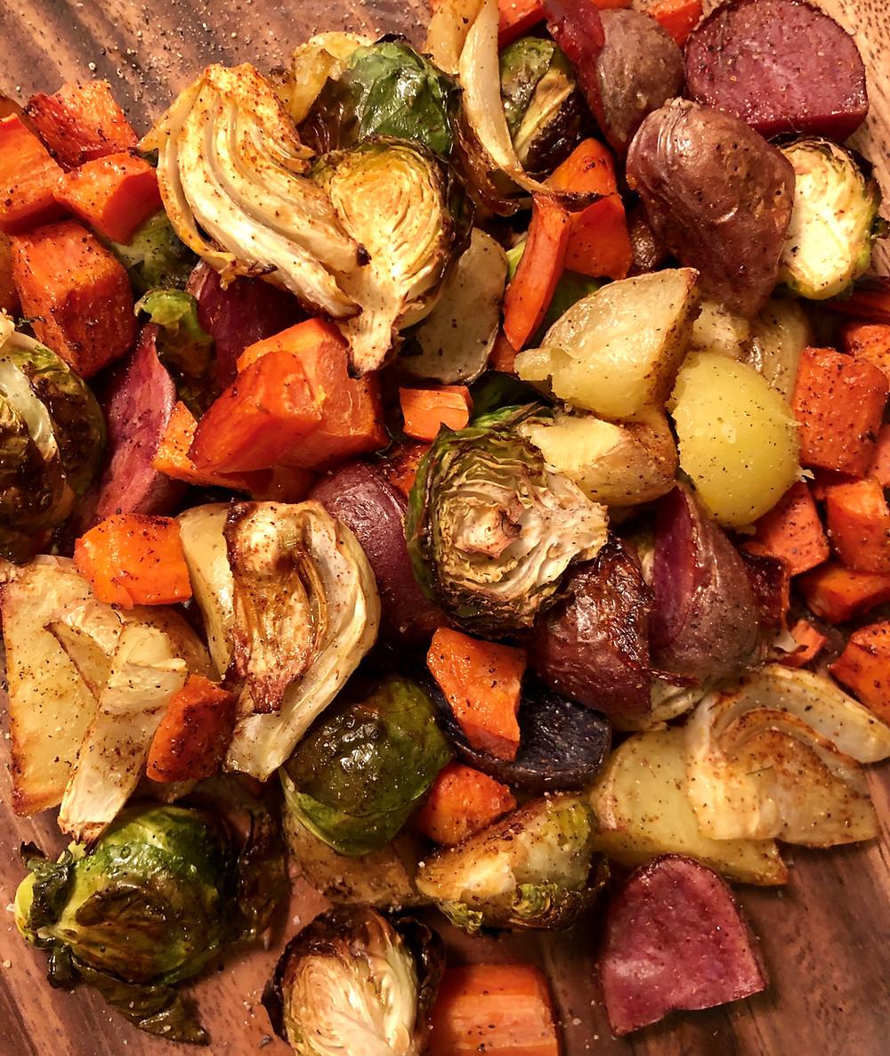 Vegan Winter roasted Vegetables