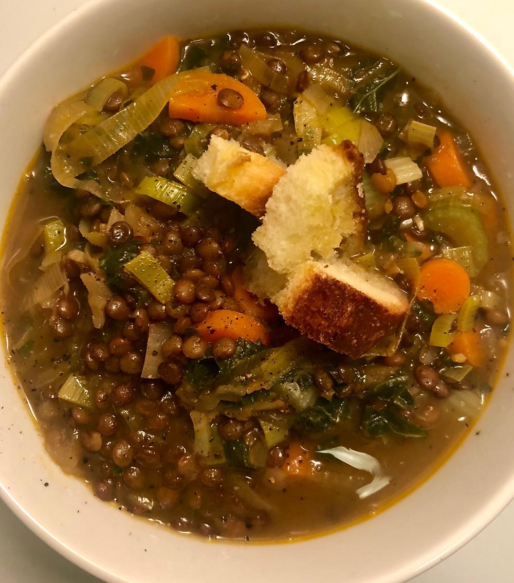Vegan 1 Pot Lentil Soup