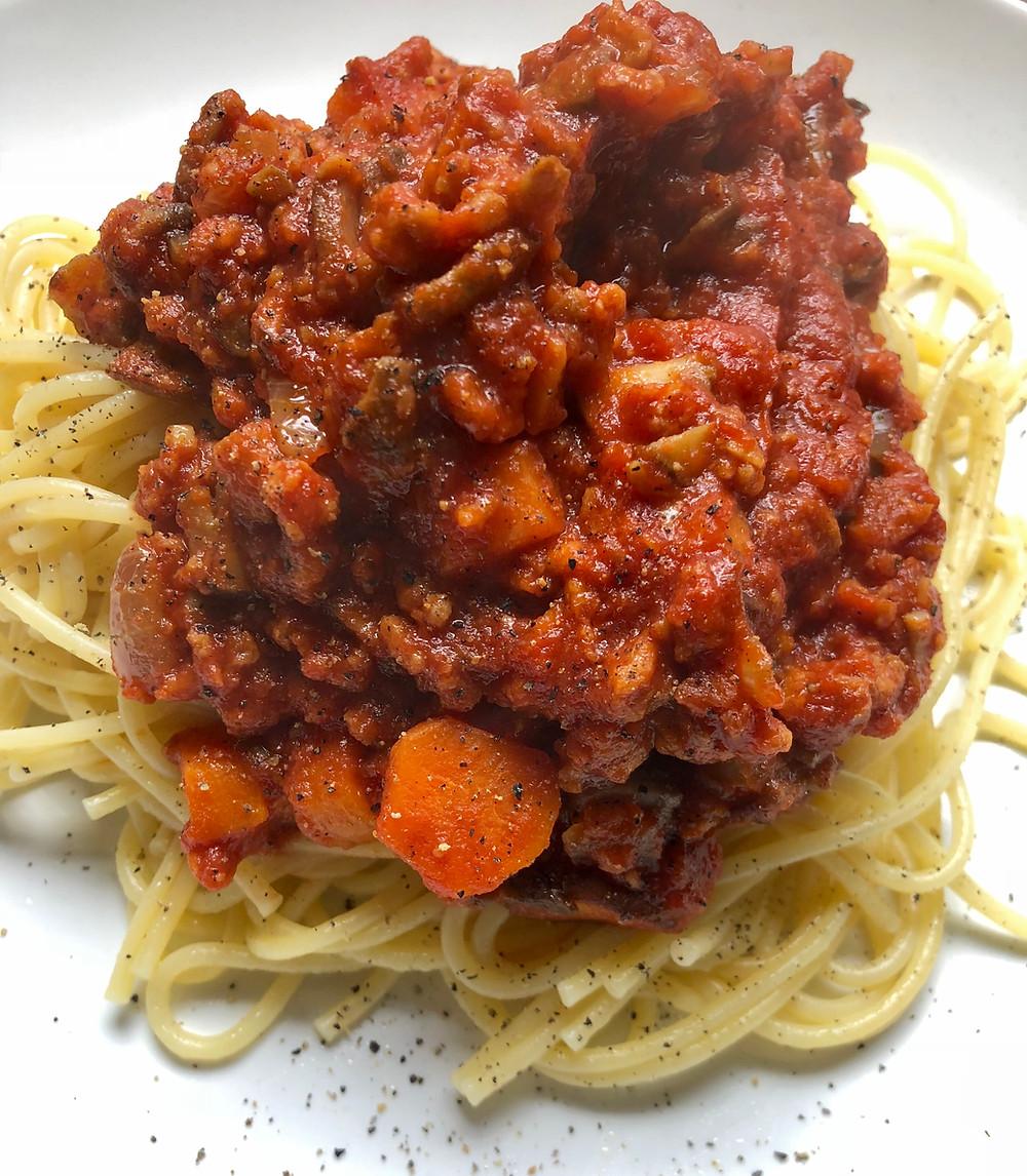 Spaghetti with Vegan Bolognese