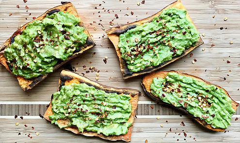 Sweet Potato Toast with Avocado vegan