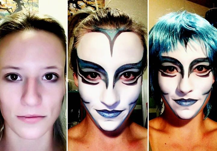 Trying my hand at doing my own cirque face paint