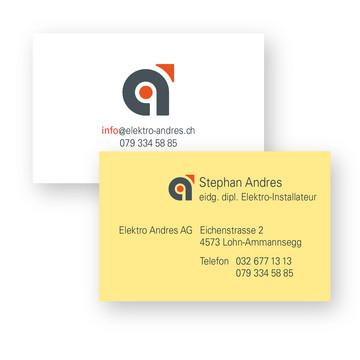 Visitenkarten – Elektro Andres AG