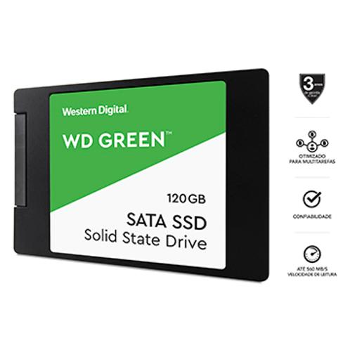 """SSD Wd Green 120GB 2,5"""" 7mm Sata 3 - WDS120G2G0A"""