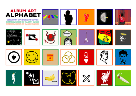 Album art alphabet